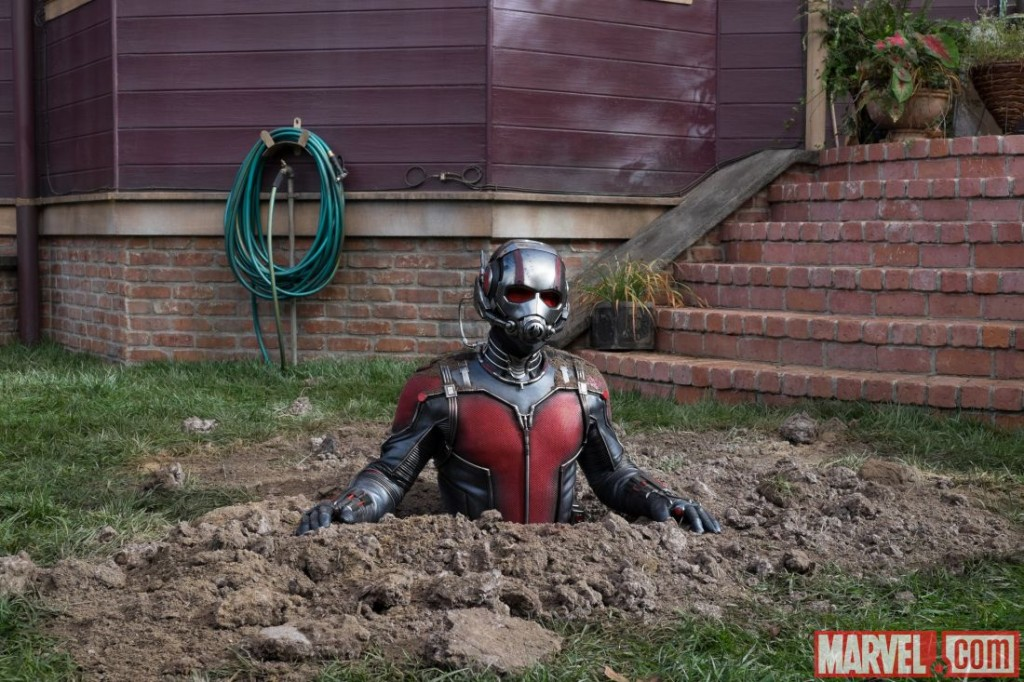 Scott Lang has a few hiccups in harnessing the power of the Ant-Man