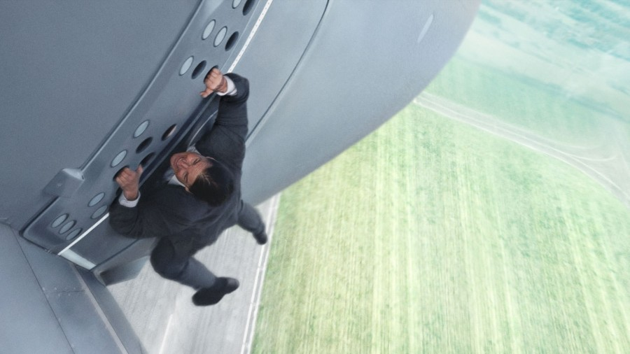 Mission Impossible Rogue Nation Tom Cruise on a plane
