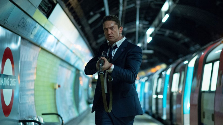 Gerard Butler does his best James Bond Impression in London Has Fallen