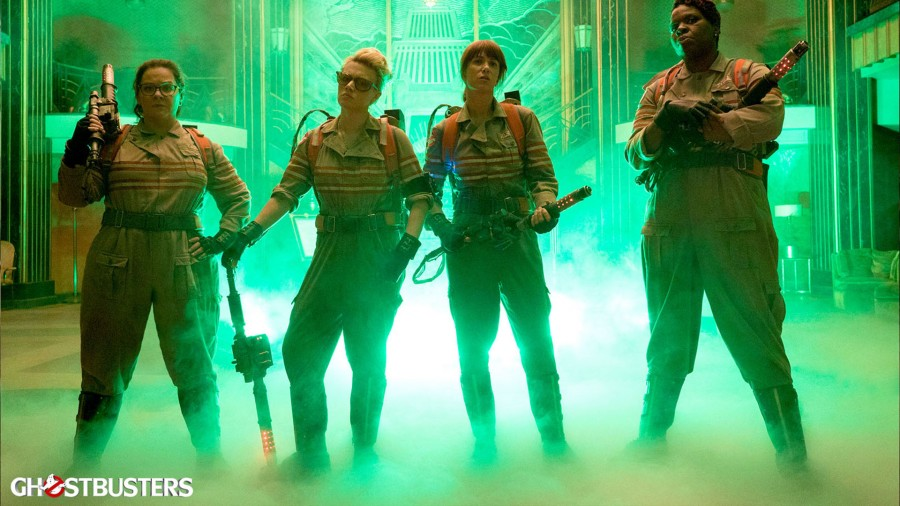 The new all-female cast in Ghostbusters (2016)
